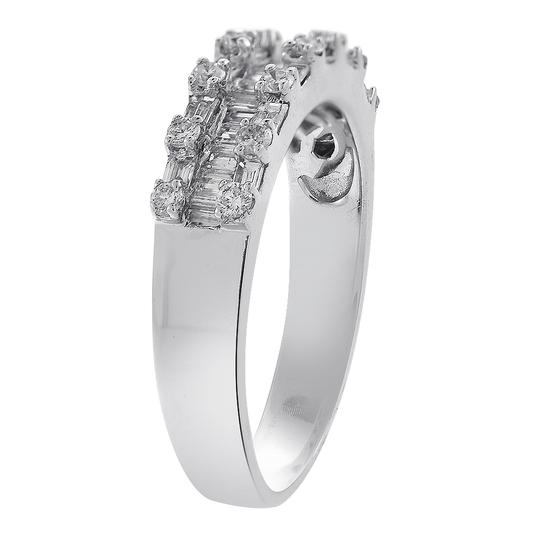 Avital & Co Jewelry 1.00 Carat Baguette and Round Cut Diamond Wedding Eternity Band Image 2