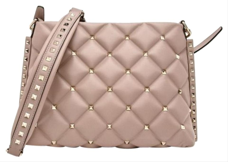 9aa92a7768c5 Valentino Candystud Rockstud Poudre Leather Cross Body Bag - Tradesy