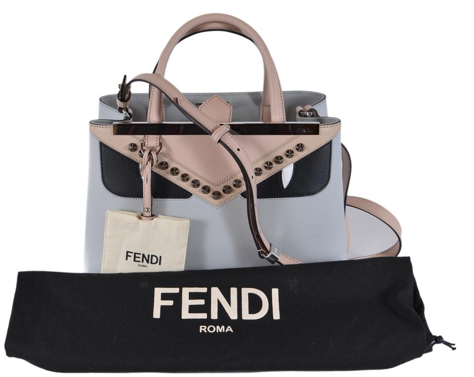 ea334a1868f Fendi New 8bh253 Bug Eyes 2 Jours Purse Grey Leather Cross Body Bag -  Tradesy