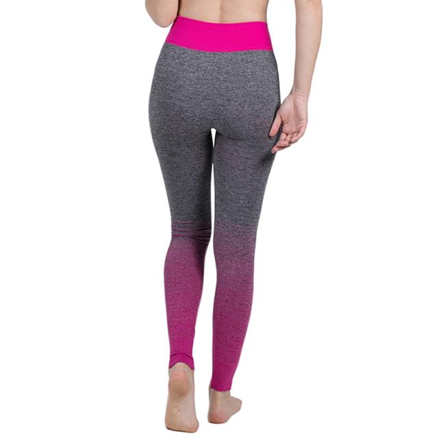 Blanca Line Gray and Pink Leggings Image 1