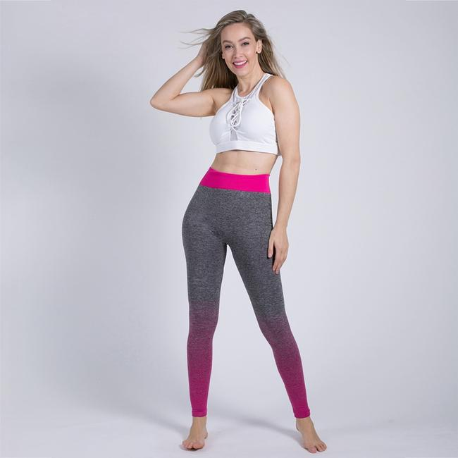 Blanca Line Gray and Pink Leggings Image 7