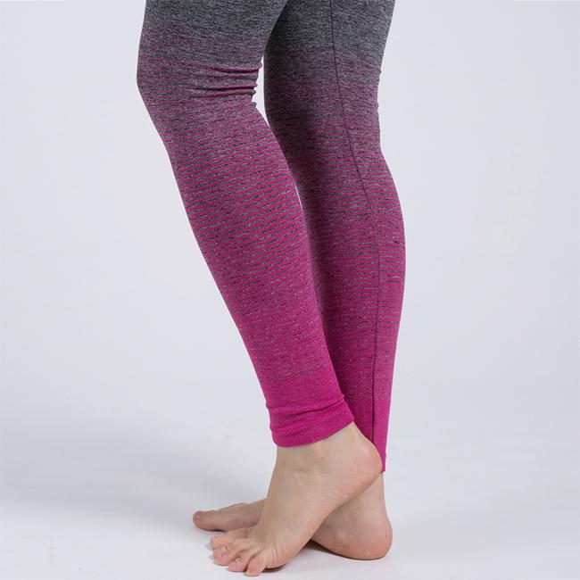 Blanca Line Gray and Pink Leggings Image 8