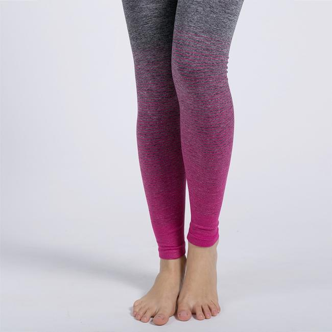 Blanca Line Gray and Pink Leggings Image 9