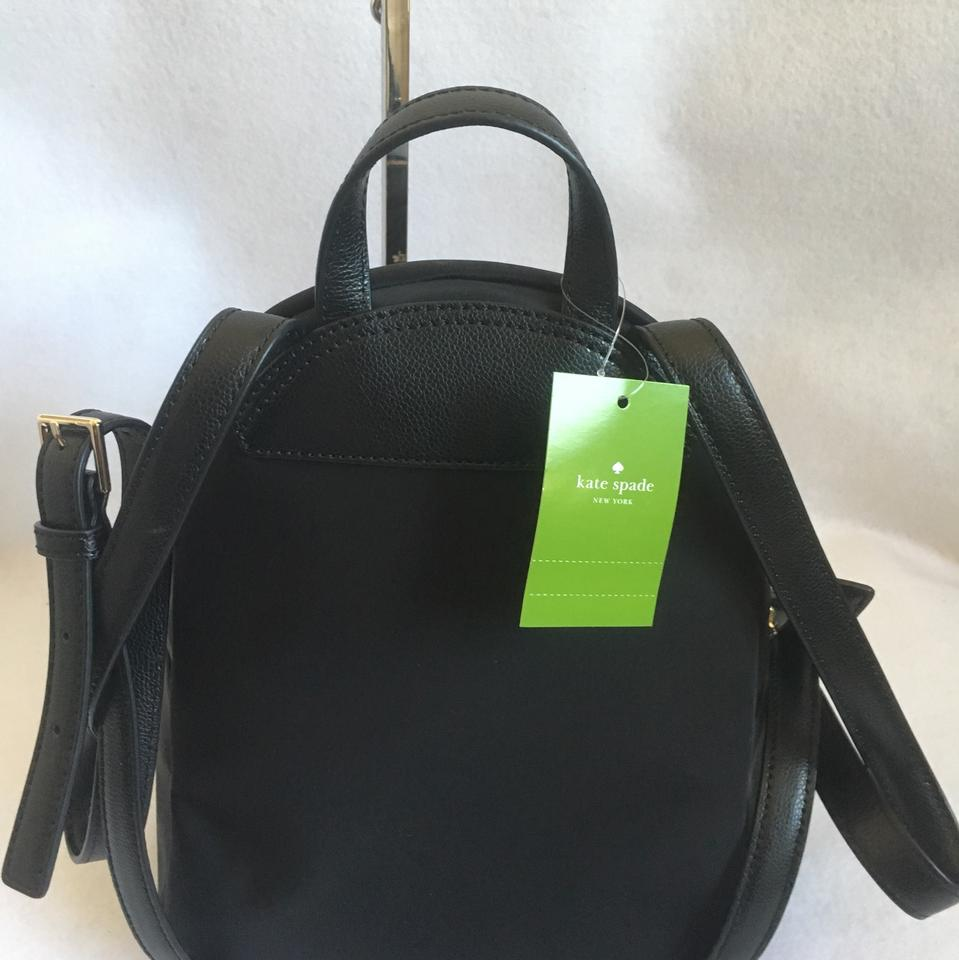 71d7a6386ab1e Kate Spade Small Noria Dawn Place Embroidered Black Nylon Backpack - Tradesy