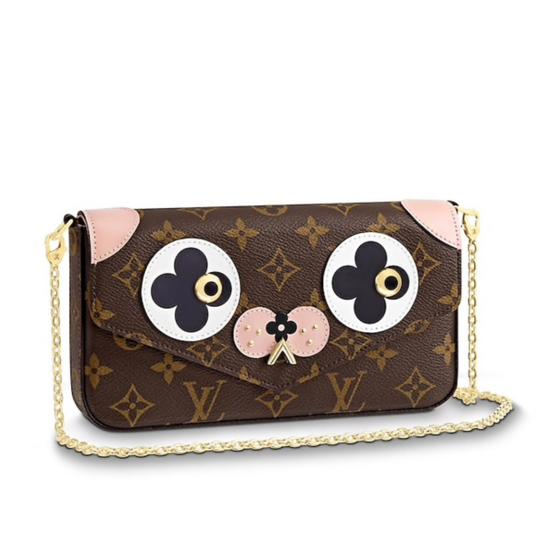 Preload https://img-static.tradesy.com/item/24778425/louis-vuitton-felicie-pochette-limited-edition-valentine-s-day-doggie-monogram-pink-brown-coated-can-0-0-540-540.jpg