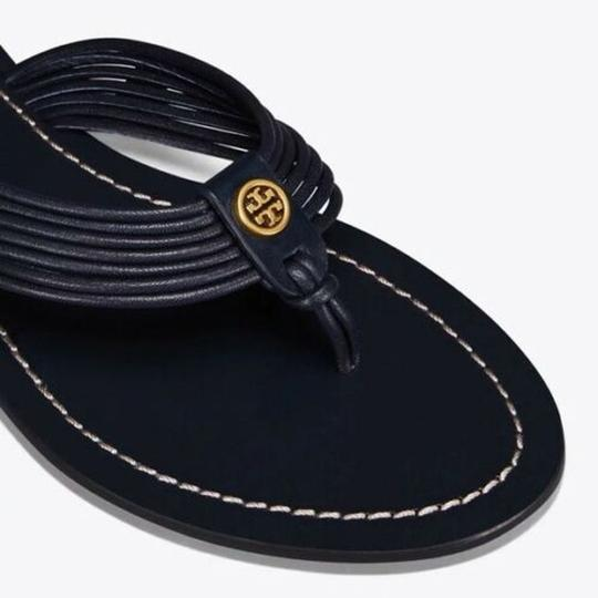 Tory Burch Velour Blue Flats Image 1