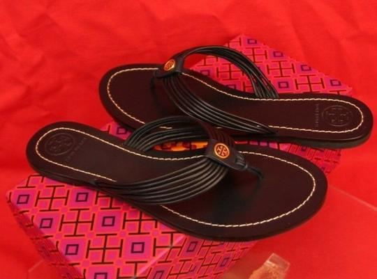 Tory Burch Velour Blue Flats Image 6