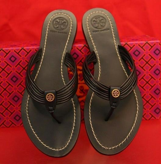 Tory Burch Velour Blue Flats Image 7