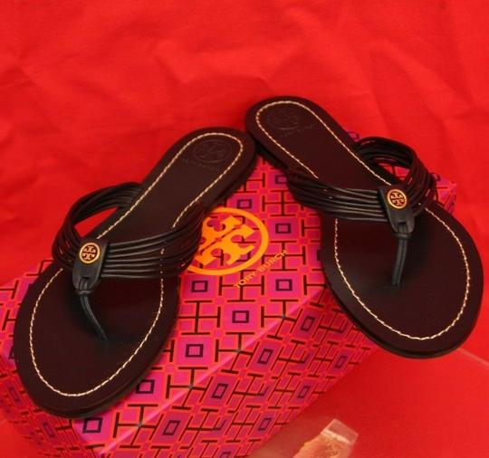 Tory Burch Velour Blue Flats Image 8