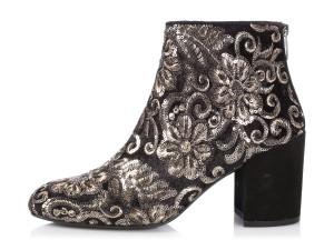 Stuart Weitzman Brocade Velvet Sequins Sw.p1226.22 Embroidered Black Boots
