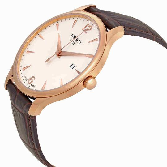 Tissot Tradition Rose Gold PVD Stainless Steel Quartz Men's Watch Image 1