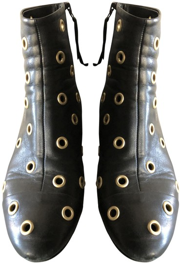 Isabel Marant Sexy Gold Grommets Ankle black Boots Image 0