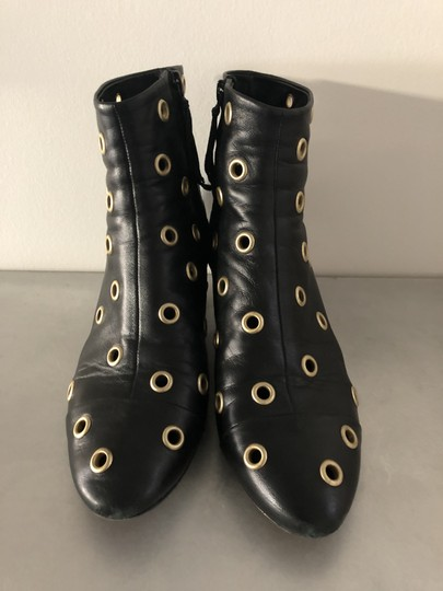 Isabel Marant Sexy Gold Grommets Ankle black Boots Image 1