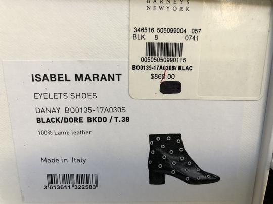 Isabel Marant Sexy Gold Grommets Ankle black Boots Image 11