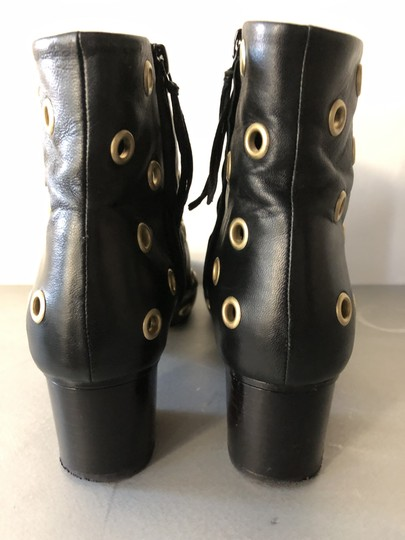Isabel Marant Sexy Gold Grommets Ankle black Boots Image 2