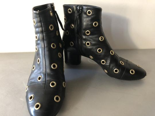 Isabel Marant Sexy Gold Grommets Ankle black Boots Image 3