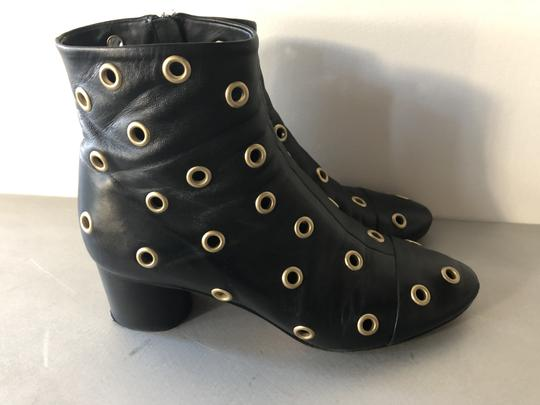 Isabel Marant Sexy Gold Grommets Ankle black Boots Image 5