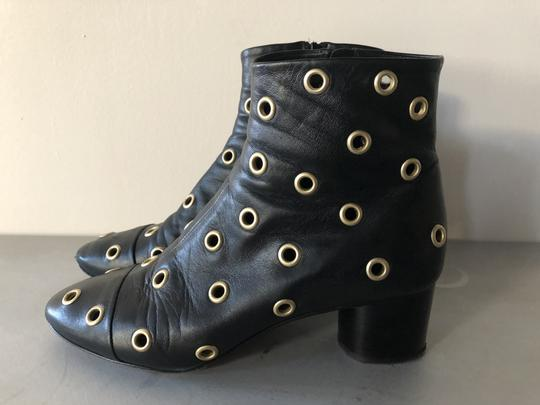 Isabel Marant Sexy Gold Grommets Ankle black Boots Image 6