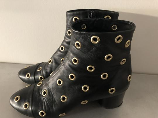 Isabel Marant Sexy Gold Grommets Ankle black Boots Image 7