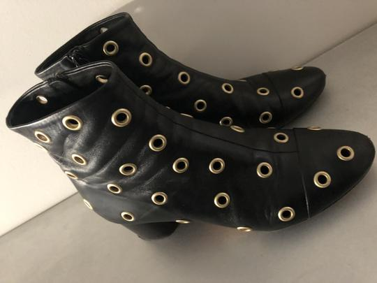 Isabel Marant Sexy Gold Grommets Ankle black Boots Image 8