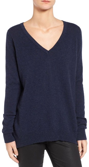 Preload https://img-static.tradesy.com/item/24778580/rebecca-minkoff-danielle-highlow-cashmere-navy-blue-sweater-0-1-650-650.jpg