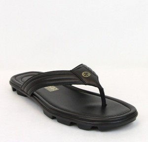 f6c9c0745 Gucci Black Soft Rei Calf Leather Thong Sandals 9g Us 10 450906 Shoes