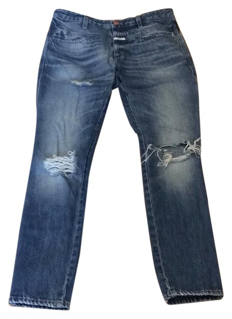 CLOSED Boyfriend Cut Jeans-Distressed Image 0