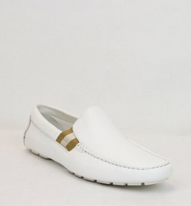 2647c68a2 Gucci White W Soft Leather Loafer W/Web Detail 12g/Us 13 363835 9036