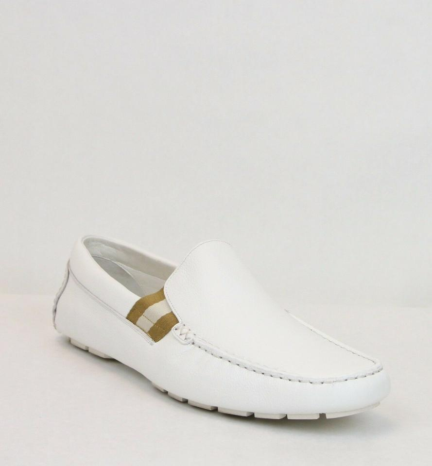 6497622c9fb Gucci White Soft Leather Loafer W Web Detail 11.5g Us 12.5 363835 9036 ...