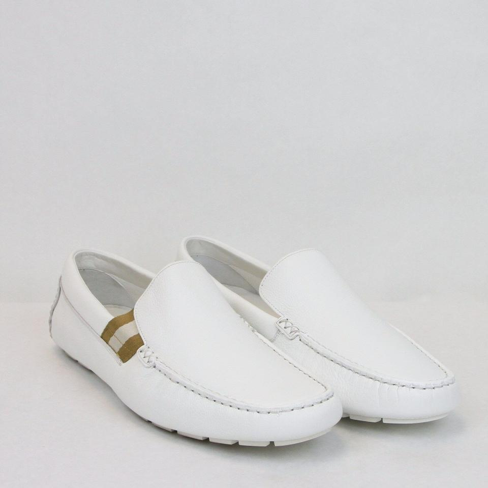707ec3adcb7 Gucci White Soft Leather Loafer W Web Detail 11.5g Us 12.5 363835 9036 Shoes