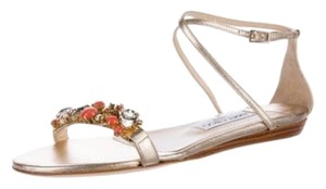 Jimmy Choo Gold and multi Sandals