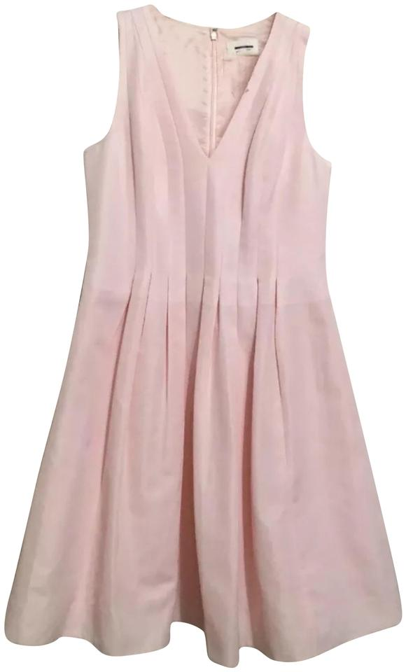 b613f471c57de J.Crew Light Pink Pleated Mid-length Cocktail Dress Size 8 (M) - Tradesy
