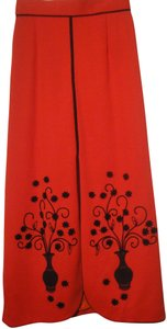 robbie bee Vintage Jersey Dressy Maxi Skirt red