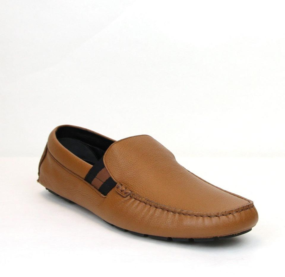 d11089347fa Gucci Brown Men s Soft Praga Leather Slip-ons 11.5 Us 12 363835 2567 Shoes  ...