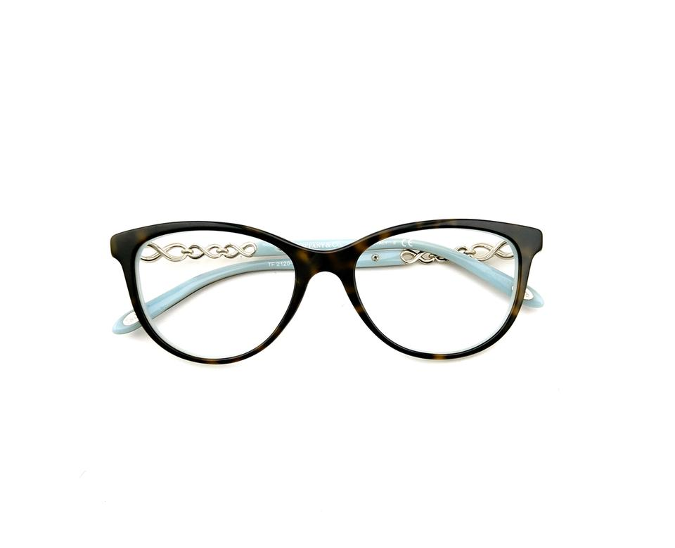 e4b0406a465e Tiffany   Co. Havana Blue Gold Tf2120b 8134 51mm Rx Prescription Eyeglasses  Frames Only Italy
