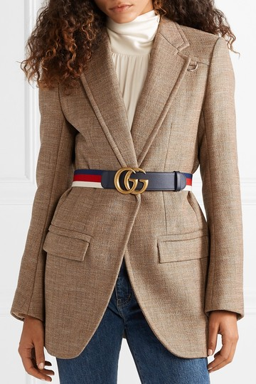 Gucci Gucci size 65 Striped canvas and leather belt Image 2