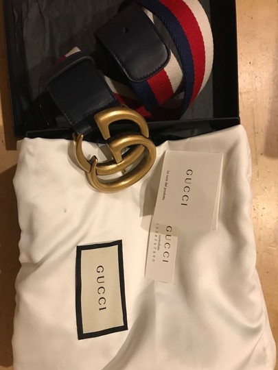 Gucci Gucci size 65 Striped canvas and leather belt Image 3