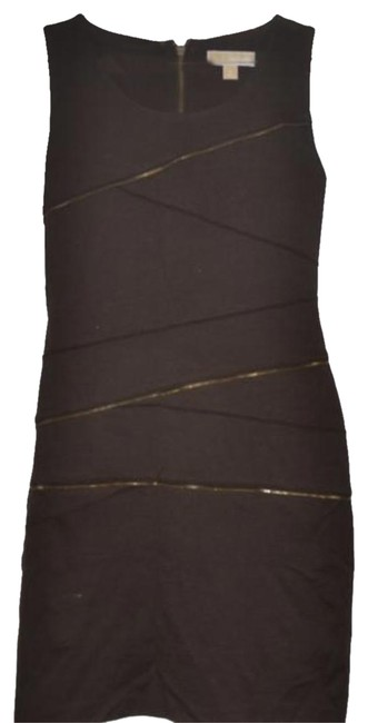 Item - Brown Fashion with Zipper Details Mid-length Short Casual Dress Size 10 (M)