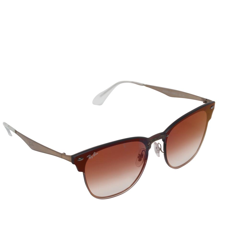 19130fa5f5 Ray-Ban Ray-Ban Blaze Clubmaster RB3576N Red Gradient Mirrored Lens  Sunglasses Image 0 ...