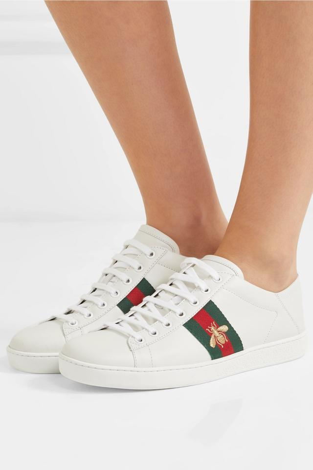 b058d226dec5 Gucci Ace Embroidered Leather Collapsible-heel Sneakers Sneakers ...