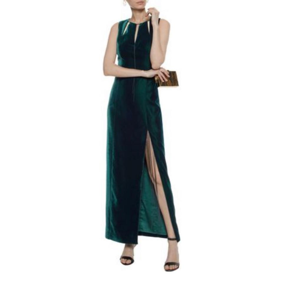 3aed6417bb2b Elie Tahari Green Emerald Velvet Gown Long Formal Dress Size 16 (XL ...