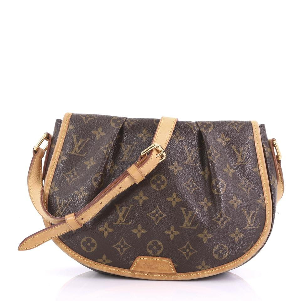 e0956c2d0c Louis Vuitton Menilmontant Handbag Monogram Pm Brown Canvas Shoulder ...