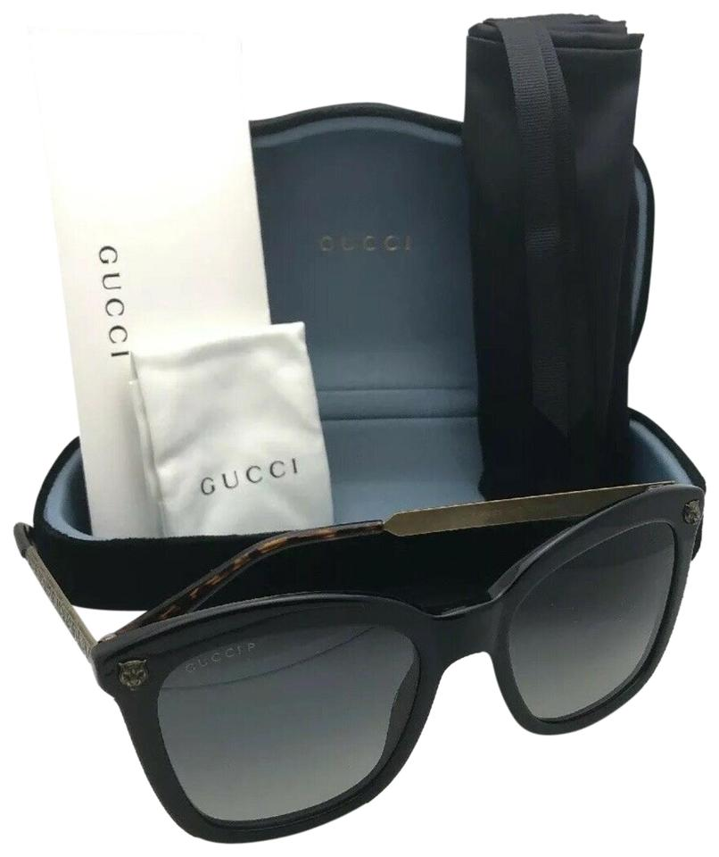900ac556f8f Gucci Polarized Gg 0217s 006 52-20 140 Black   Gold W  Grey Gradient W   Sunglasses
