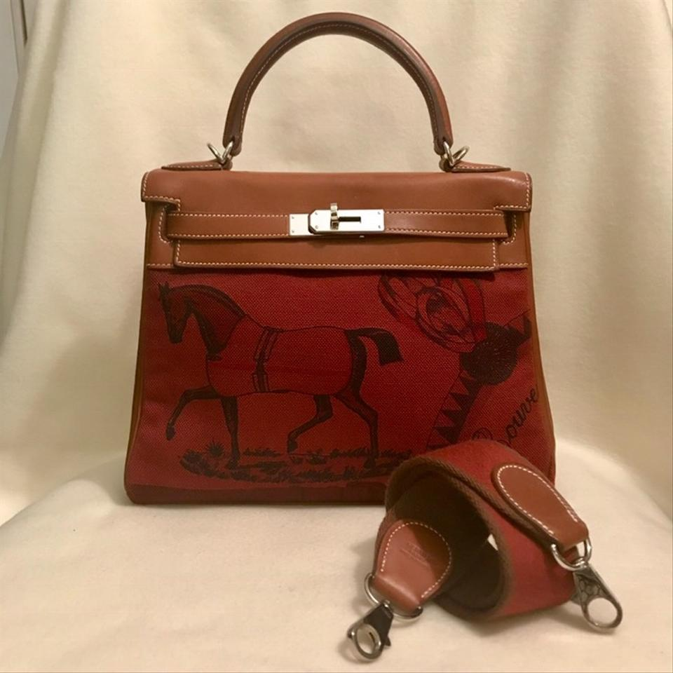 796bb0d49049d Hermès Kelly Rare Special Edition Collector s Amazone Barenia Toile ...