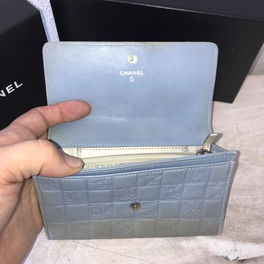 Chanel silver blue Clutch Image 2