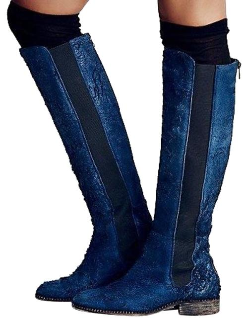 Item - Indigo 'callow' Tall Boots/Booties Size EU 39 (Approx. US 9) Regular (M, B)