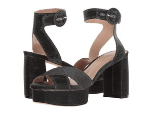 Stuart Weitzman Formal Platform Evening Heels Black Nighttime Sandals