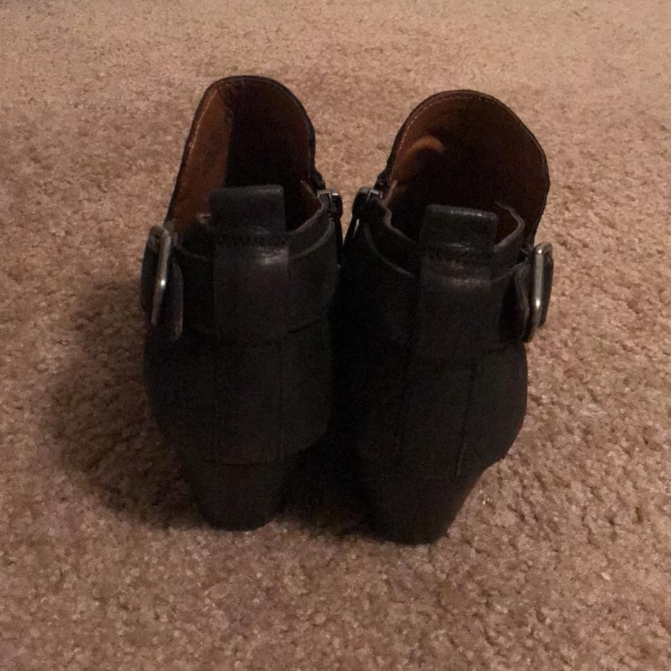187f037fbe6 Franco Sarto Black Ankle with Silver Buckle Boots/Booties Size US 7 Regular  (M, B)