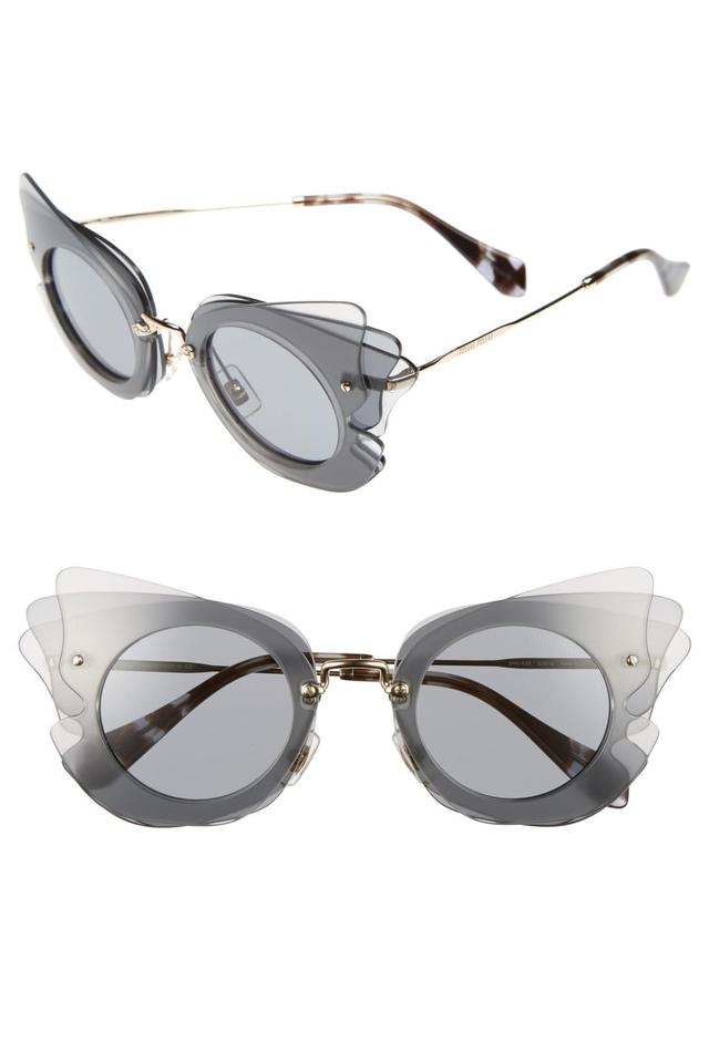 ef1589bbd5 Miu Miu Grey Mu02ss Layered Butterfly Sunglasses - Tradesy