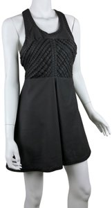 Free People Faux Leather Fit & Inset Skater Dress